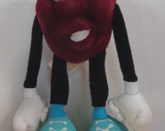 CALIFORNIA RAISINS, Conga Dancer, Clean in Original Bag,5 1/2 inch Plush Character Doll Figure, Applause Toys,1988,Calrab