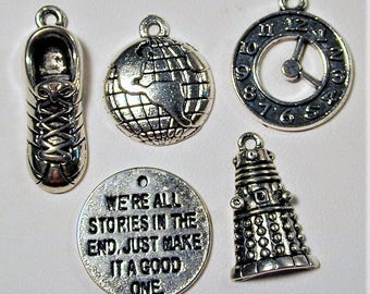 Dr. Who Inspired Charm Collection 5pc  C147