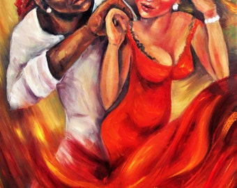Never Miss a Chance to Dance Print from my Original Painting Wall Art