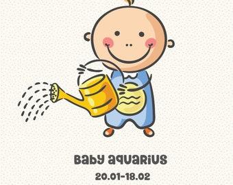 Baby Zodiac Aquarius