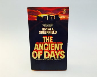 Vintage Sci Fi Book The Ancient of Days by Irving Greenfield 1973 Paperback
