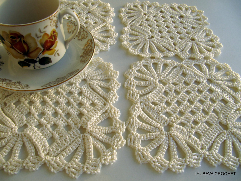 Crochet Coaster PATTERN, Crochet Home Decor Pattern, DIY Coasters ...