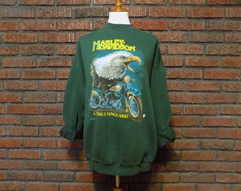 Vintage Harley Davidson A True Vanguard Motorcycles Sweatshirt