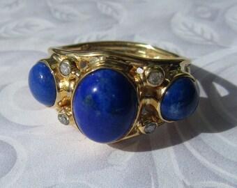 Lapis Lazuli Ring, Lapis Lazuli Jewelry, Lapis Lazuli, Lapis Lazuli Stone, Lapis Lazuli and Diamond Ring, Rings, Women's Rings