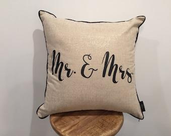 Mr. & Mrs. Pillow Cover