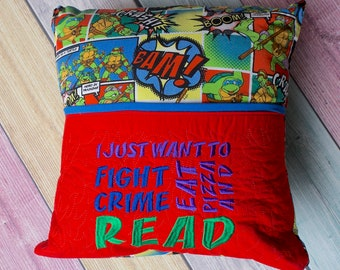 Fight Crime and Read... Book Pillow