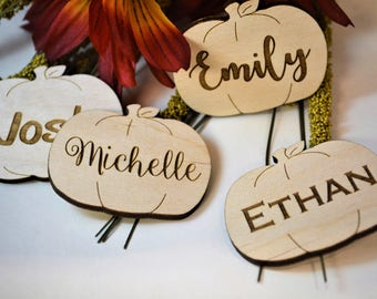 Personalized Pumpkin, Pumpkin Favor, Pumpkin Decoration, Fall Party, Fall Party Favors, Fall Name Cards, Place Card, Autumn, Wedding Favors