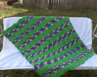 Bright Ripple Afghan