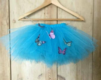 Butterfly Flower Girl Tutu, Tulle Skirt, Bridesmaid tutu, Ballet Tutu UK, Girls Tulle Tutu Skirt UK, Butterfly Photo Prop, Custom Colours