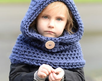 CROCHET PATTERN - Clove Hooded Cowl (3/6 months, 6/12 months, 12/18 month,Toddler, Child, Adult sizes)