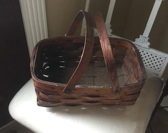 Antique Oak Berry Basket