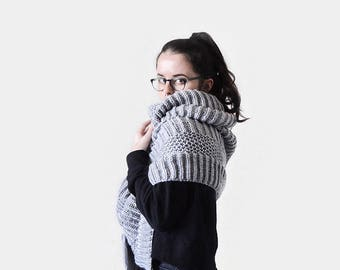 Wrap Knitting Pattern / Scarf Pattern / Bulky Scarf Knitting Pattern / Oversize Knitting Pattern / Super Scarf Pattern