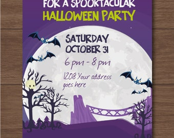 Halloween party invitation - Party invites