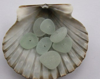Drilled Bulk Sea Foam Sea Glass - Beach Glass Jewelry Supply