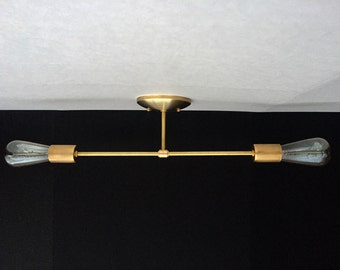 Draper Collection .  Semi Flush Mount Ceiling Light  .  Mid Century Inspired  .  Modern Minimalist