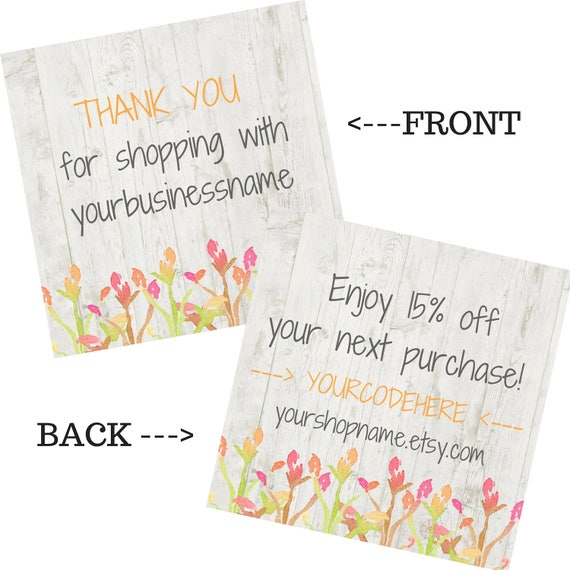 thank you card inserts