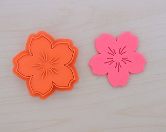 Cherry Blossom Cookie Cutter and Stamp Set