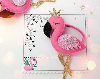 Pink Flamingo hair tie Free Uk Shipping
