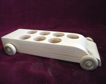 Unfinished Pine Bus #4 WITHOUT Peg Dolls