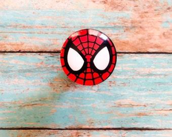 Spiderman Dresser Drawer Knob ~ Kids Dresser Pulls ~ Marvel Drawer Knob ~ Spider-man ~ Superhero Dresser Knob ~ Superhero Bathroom