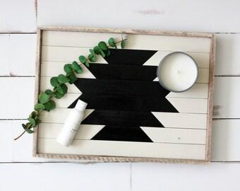 Reclaimed wood tray; serving tray, decorative tray, vanity tray, wooden tray, ottoman tray, hostess gift, nordic decor, boho decor, barnwood