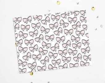 PRINTABLE Sheet - Blush Bows