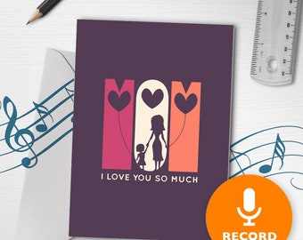 Card For Mothers Day | Musical Mothers Day Card, Cute Card For Mum, Mom Musical Greeting Card 00160