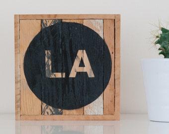 "6""x6"" LA Stark & Steel Series #115 || Modern Reclaimed Artworks"
