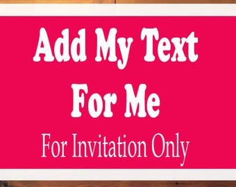 Add My Text For Me, Add My Wording For Me, PDF Files Only!
