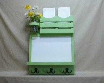 Mail Organizer - Dry Erase Board - Message Center - Coat Rack - Jar Vase