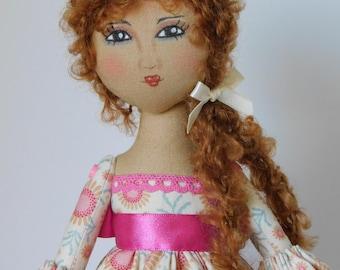 Rag doll, heirloom doll, cloth dolls handmade, cloth doll, rag dolls, poupee chiffon, cloth dolls, rag dolls handmade, handmade doll