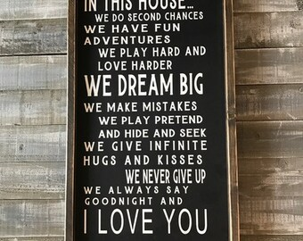 house rules, family rules sign, wood signs, signs, wood signs, family, wood signs quote, wood signs family, home decor, wall hangings