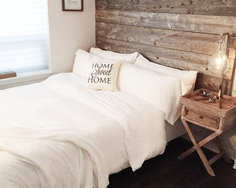 Reclaimed Wood Bed Headboard DIY Installation - Made From Reclaimed Wood King and Queen Sizes Available Free Shipping