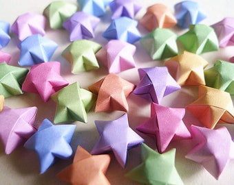 Origami Lucky Stars - Mixed Colors Wishing Stars,Embellishment,Gift Enclosure,Home Decor