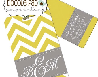 Monogram Luggage Tag, Chevron Luggage Tags Custom
