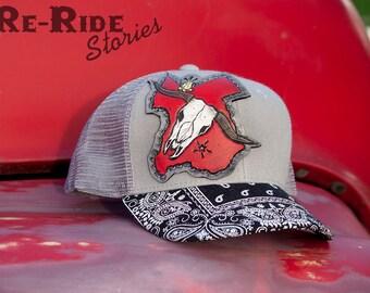Trucker Hat- Texas & Longhorn
