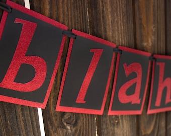 Blah Blah Blah banner - Hotel Transylvania - Halloween banner - Dracula