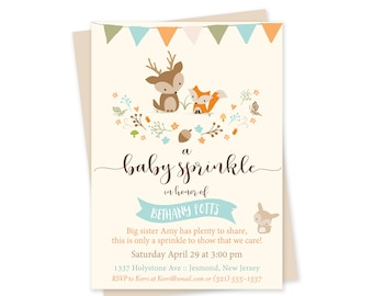Baby Sprinkle Invitations Bear Baby Sprinkle Cards 50