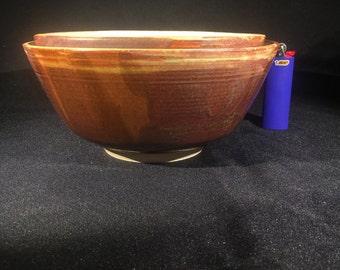 White and Brown Green Metallic Serving Bowl Set Nesting Bowl