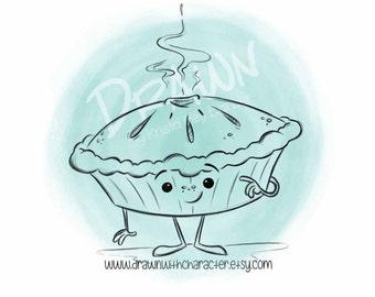 Pie, Digital Stamp/ KopyKake Image, Digi- F24-PIE1