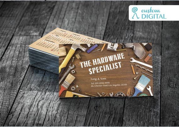 Hardware specialized business card custom printable colourmoves