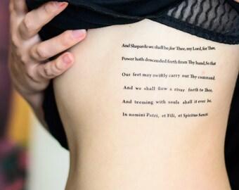 Boondock Saints' Prayer Temporary Tattoo