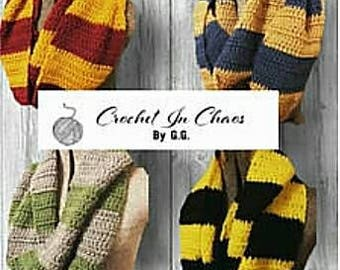 Scarf for Witch/Wizard (4 Choices) Wizard Infinity Scarf; Inspired By Harry Potter Series/Movies; Choose your House Colors