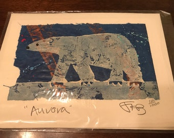 """Vintage Limited Edition Signed """"Aurora"""" 110 Note Card"""