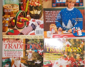Lot of Vintage Crafting Traditions Magazines (4)
