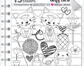Cat Stamp, 80%OFF, Commercial Use, Digi Stamp, Digital Image, Cat Digistamp, Animal Stamp, Cat Clipart, Cute Ctas, Cat Clip Art, Fancy