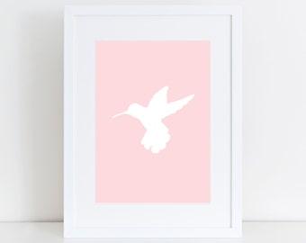 Hummingbird print, Animal Print, Nursery Wall Print, Kids Art, Animal art, Hummingbird art, Children Print, Bird Print, Nursery Art print