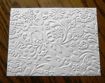 DEARLY Reindeer Holiday Embossed Card Stock Panels Perfect for Scrapbooking and Card Making - Set of 12