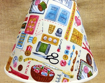Sewing Seamstress Lamp Shade