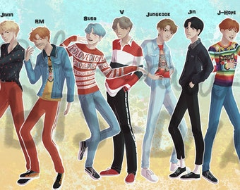 BTS DNA STICKERS kpop love yourself army